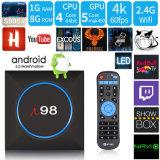 Я98 Android 7.1.2 телевизор в салоне с Amlogic S905X микросхемы ОЗУ 1 ГБ и 8 ГБ ПЗУ и светодиодный индикатор сменные 2,4 WiFi поддержка 4K HD
