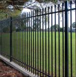 2railsによって電流を通された鋼鉄棒杭の囲いはまたは錬鉄の囲うか、または塀のパネルを使用した