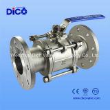 Válvula de bola de brida 3PC manual de acero inoxidable