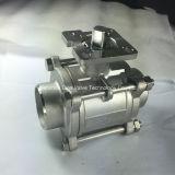 3PC que flutua a válvula de esfera 1000wog com almofada de montagem
