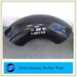 La saldatura testa a testa d'acciaio nera dell'ANSI B16.9 dell'accessorio per tubi di A234 Wpb 45deg LR Elbow