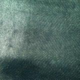 Tissu chaud de chaussure en cuir d'unité centrale de Faux d'estampage d'or de tissu de polyester