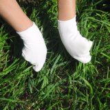 Белые перчатки покрытия PU