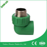 PP-R Raw Material e Brass 90 Degree PPR Male Elbow Fittings