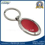 Personalizzare l'anello portachiavi in lega di zinco in bianco del metallo