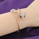Frauen-Armbandmit veränderbarer längefox-Entwurfs-Goldkristall-Armband