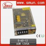 60W 5V/12V/15V/24V/36V/48V Single Output Switching Power Supply/SMPS CER RoHS 2 Year Warranty (S-60-12)