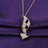 Foxデザインの方法宝石類の金の水晶吊り下げ式のネックレス