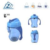 BPA geben Baby-Flasche mit Griff-führende Flaschen-Säuglingsmilchflaschen breites Stutzen-Trainings-trinkendes Cup frei