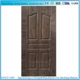 Moldeado de laminado de madera contrachapada de Panel de puerta de madera de nogal oscuro natural
