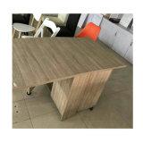 Tabela de Extremidade dobrável de madeira mesa de café com Rodas
