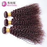 最も売れ行きの良いワインレッドのカラーVirignの中国の毛の織り方の緩い波の毛ドバイ
