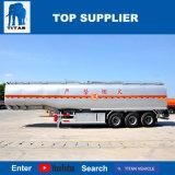 A Titan 3 Eixos 45000 litros do tanque de óleo combustível em aço carbono petroleiro Trailer para transporte de óleo