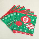 Desechable impresión colorida del papel servilleta para la fiesta de Navidad
