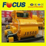 500L Js500 kleiner hydraulischer Betonmischer mit horizontaler Welle