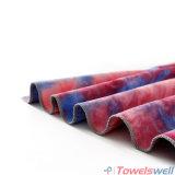 De rode Handdoek van de Yoga van het Silicium van Microfiber van de Kleurstof van de Band Antislip