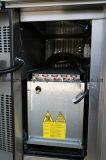 Indicador comercial de quatro portas sob o refrigerador contrário
