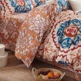 1800コレクションは4部分のシーツのセットされた羽毛布団カバー寝具の寝具にブラシをかけた
