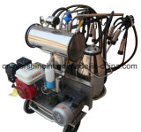 La máquina de ordeño portátiles con el doble de cubos y los motores de doble