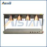 Calentador del alimento del calientaplatos de la pista del doble de la dimensión de una variable de la lámpara de calle Pd-2 con la base de mármol