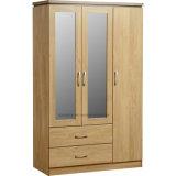 미러 (ST0069)를 가진 주문을 받아서 만들어진 현대 나무로 되는 침실 옷장