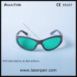 Grande qualidade dos óculos de segurança de laser e óculos de protecção laser para os lasers vermelho & 808nm os diodos de laser Laserpair
