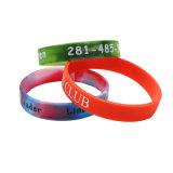 Caoutchouc d'impression de la soie personnalisé Bracelet en silicone avec logo imprimé graver bracelet en silicone rempli d'encre