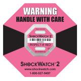 Shockwatch van uitstekende kwaliteit Etiket van de Waarschuwing van de Schok van 2 G het Breekbare