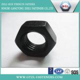 Hex черные тонкие гайки DIN936