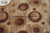 Diseño de círculo de chenilla marrón Tapizados (Fürth31111)