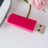 4-64GB Aandrijving van de Flits OTG USB van de Telefoon van de Cel van het Embleem van de douane de Mobiele Dubbele (yt-1201-03)