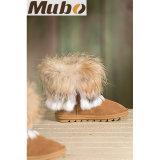 Теплый способ женщин зимы обувает ботинки овчины