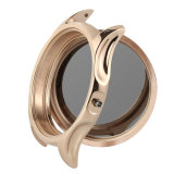 Montre-bracelet mécanique de dames de courroie en cuir