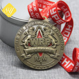 Meilleure qualité 3D Race Course Marathon de l'émail dur mou médailles sportives