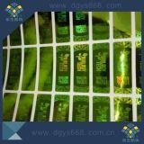 Etiket van het Hologram van de Veiligheid van het Aantal Demetalzation van de douane het Transparante