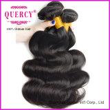 O Weave brasileiro do cabelo da onda do corpo empacota o fechamento do laço, cabelo brasileiro do grande Virgin conservado em estoque da classe 9A 3 pacotes