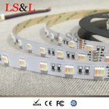 Украшение Ledstrip цветастого изменения RGBW+W светлое для Chirstmas