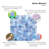 Mattonelle di vetro blu di stile moderno per la parete della cucina