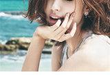 La moda femenina oreja estrella uñas pendientes Gota de agua S925 Aretes de Plata