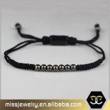 Kundenspezifisches kleines Raupe-Seil-umsponnene Armband-Männer, kundenspezifisches wulstiges Armband Msbb030