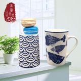 Горячая продажа рыбы дизайн Китая керамические чашки кофе чашку
