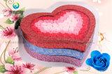 발렌타인 데이 동안 매력적인 대중적인 마분지 서류상 꽃 상자