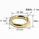 熱い販売の金属亜鉛合金の袋のための円形のリングのバックルは分けるベルトの留め金の靴革の商品のアクセサリ(YK941)を