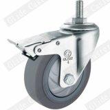 Einfache industrielle Fußrolle der Genauigkeits-Peilung-TPR mit Bremse
