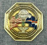 Il metallo del creatore del fornitore/oggetto d'antiquariato/ricordo/oro su ordinazione/polizia militare/d'argento sfidano la moneta con il marchio nessun minimo