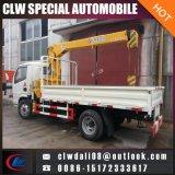 똑바로를 가진 트럭 2 톤 또는 기중기, 판매를 위한 4*2 트럭에 의하여 거치되는 기중기의 접히는 팔