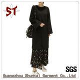 Custom пружина/осенью отдых в рубчик цветочными орнаментами худи Pullover женщина платья
