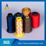 カラーロール100%回されたポリエステル製造業者の産業縫う糸