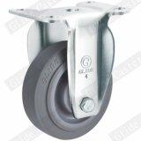 Mittleres Peilung-Gewinde-Stamm-Oberseite-Bremsen-Fußrollen-Rad der Aufgaben-TPR doppeltes (graues) G3302