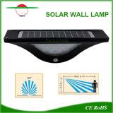 En forme de U nouveau style d'éclairage extérieur solaire Corner Garden monté sur un mur de la lampe